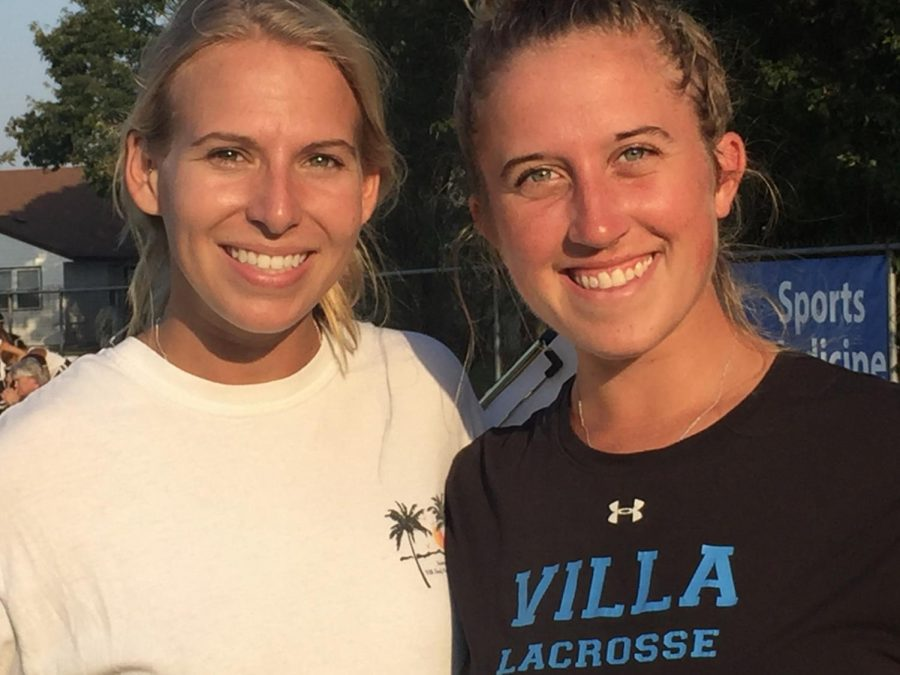 From+left+to+right%3A+field+hockey+coaches+Kristen+Vick+and+Alexandria+Ostich+smile+after+a+victory+at+Salem+High+School+on+Oct.+3.