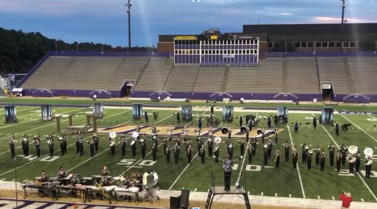 Marching Dolphins perform at JMU on Oct. 19.