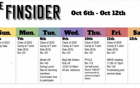 SCA members post The FInsider calendar for Oct. 6-12 on instagram page, photo from @OLHS_SCA.