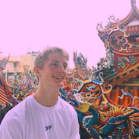 Senior Pierce Corson explores a Daoist Temple in Xiao Liu Qiu, Taiwan on July 16, 2019.