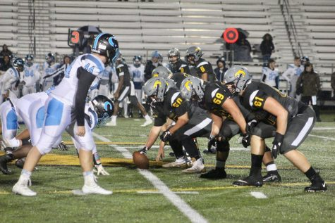 Dolphin offense sets up for a play against Cosby at Kellam on Nov. 16.