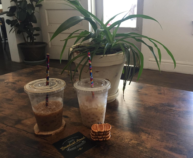 Senior Grace Strzalko enjoyed a pumpkin pie spice latte and a honey lavender latte from Sawmill Road.