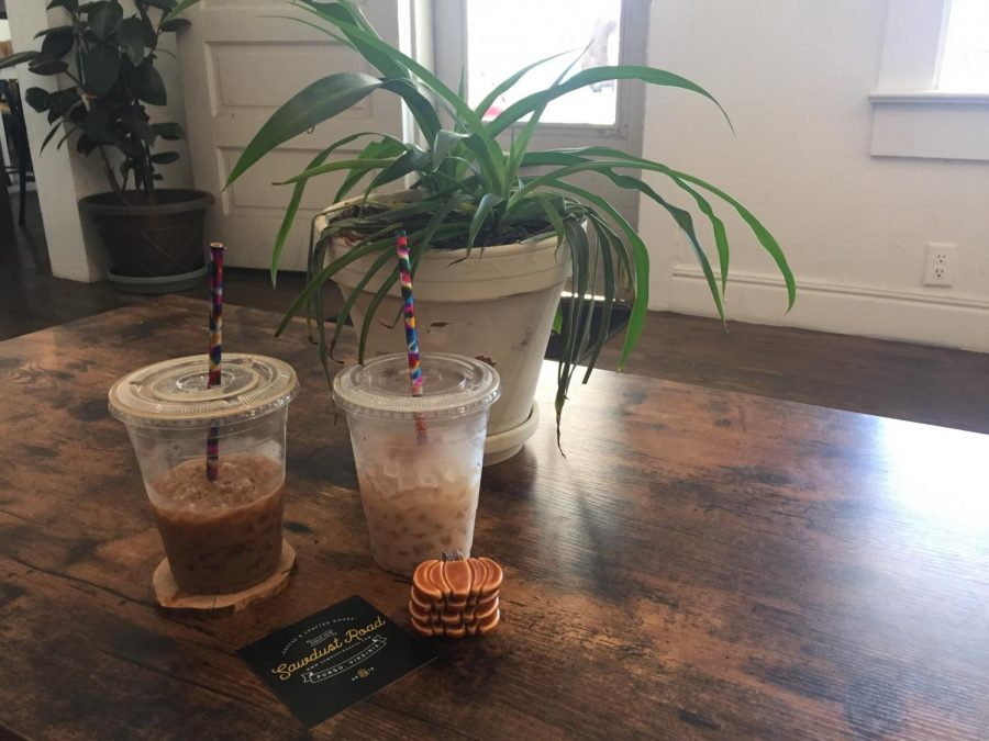 Two lattes from Sawdust Road