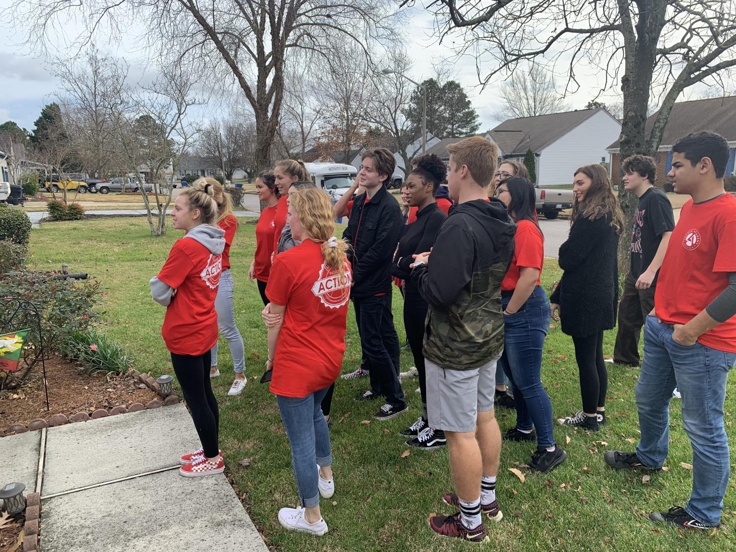 Michael Boomer's 1A leadership skills development class took a field trip to sing songs for the elderly.