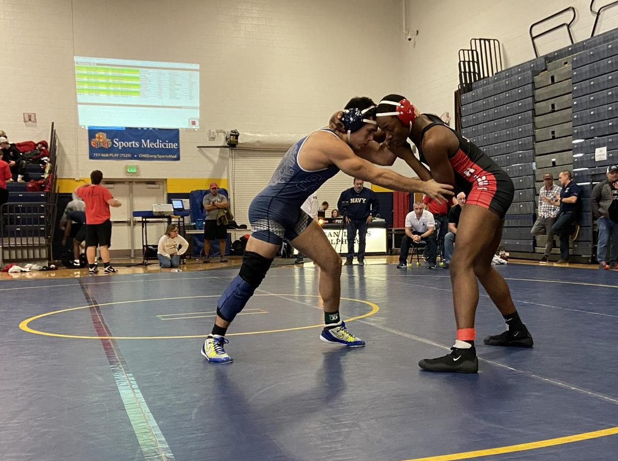 Senior Jake Levine wrestles in the fifth round consolation match on Dec. 21.