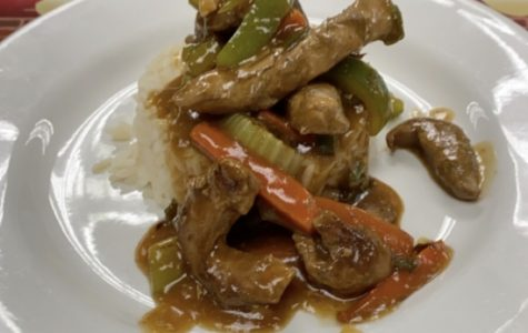 Chicken sauté made in Karen Simmons culinary class on Nov. 20.