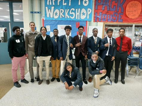 Left to right: George Bell, Charles Mullen, Brandon Francis, Jamil Hodge, Dominic Evans, Caleb Johnson, Jaden Irwin-Harris, Jameer Irwin-Harris, Nnadozie Chinwike-iwuama, Justin Richardson, Cody Flint, and Caleb Johnson
