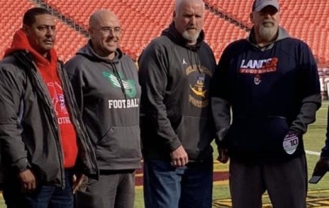Redskins recognize football coach