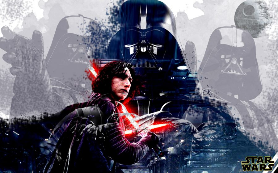 Star Wars series poster featuring Kylo Ren and Darth Vader.