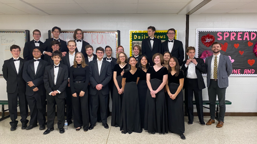Students that performed in the 2020 All-District Band event in Cox High School on Feb. 1. (Left to right: Adam Caputi, Ben Majors, Josh Sambo, Dominic Pozzini, Thomas Beasley, Evan Wadey, Kaden Bock, Gabriel Gonzalez, Grace Richardson, Gil Dolan, Jackson Varga, Zack Six, Eric Rhodes, Rachel Owens, Rachel Dizon, William Harrison, Cameron Rozier, Landon Phelan, Shelbie Gray, Nascia Phillips, Ashton Trexler, Justine Arenas, Ryder Robins, and Micharl Parker.)