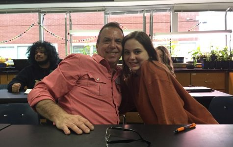 Lauren Ventura and her father learn in Carbonneau's astronomy class. Feb. 26, 2020.