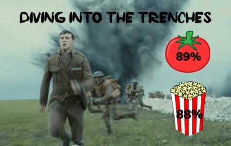 A graphic displaying the Rotten Tomato critic and audience ratings for