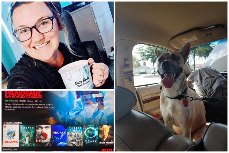 Students and staff members, such as science teacher Jordan Turner, share photos from home to SCA's Instagram to connect during the COVID-19 pandemic.