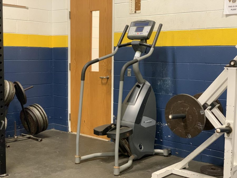 Stair climber donated by Inlet Fitness currently sits in Ocean Lakes weight room.