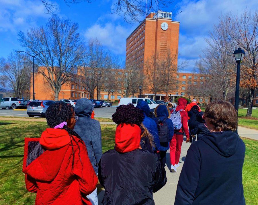AVID classes tour Radfords campus on Feb. 27.