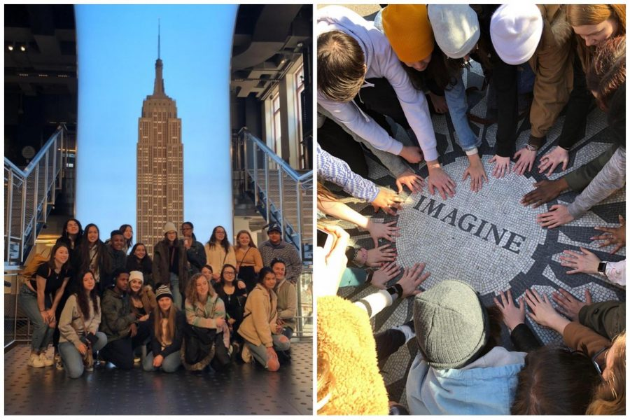 Ms. Sullivan's Art History classes visit the Empire State building and Central Park in New York City on Mar. 5.