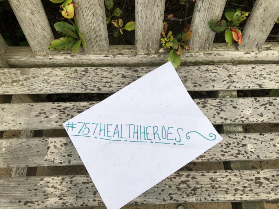 #757HealthHeros is the social media hashtag used to represent the communities support for healthcare workers.