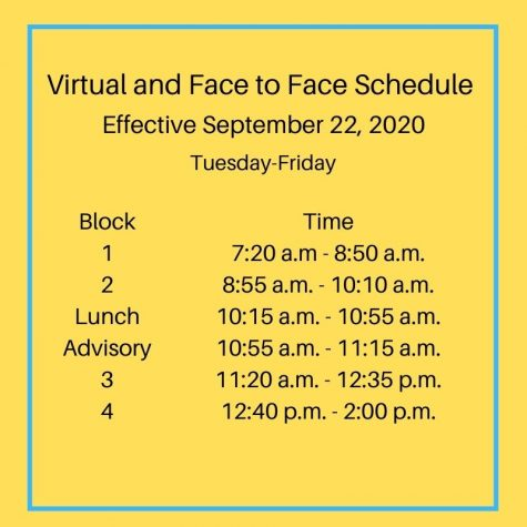 Virtual schedule adapts as students transition to new phase of instruction, starting Sept. 22