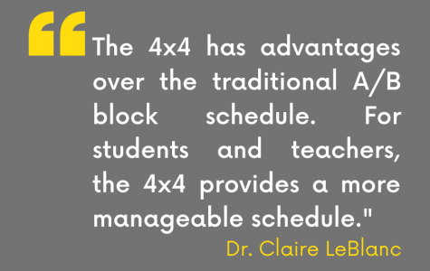 Quote from Principal Claire LeBlanc's parent and student newsletter.