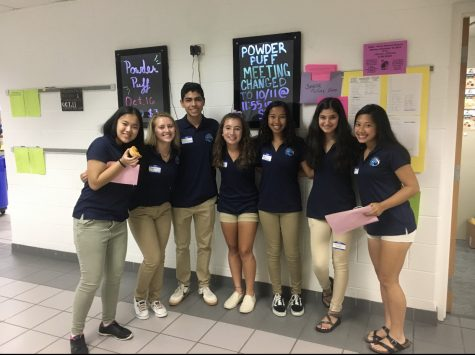 SCA members stand outside the SCA workroom at Ocean Lakes. (From left to right) Michelle Zheng, Reese Thornton (president), Alan Ledezma (vice president), Kaitlyn Hertz (secretary), Naya Thompson (historian), Batool Ayaz, Nina Dao (℅ 2021 vice president).