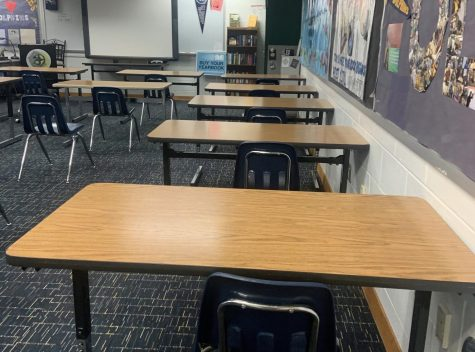 Ocean Lakes administration positions desks three feet apart prior to students return