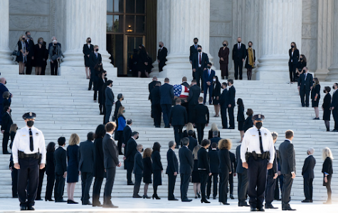Supreme Court Justice, Ruth Bader Ginsburg is honored at the U.S. Capitol Building after her death. Photo taken on Sept. 25, 2020.