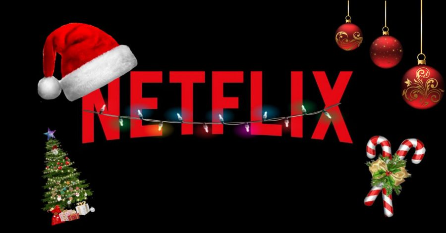 An+edit+made+to+show+the+Netflix+logo+in+a+more+festive+fashion.+Including+a+few+things+that+represent+the+Christmas+holiday%2C+and+showing+viewers+what+the+site+has+to+offer.