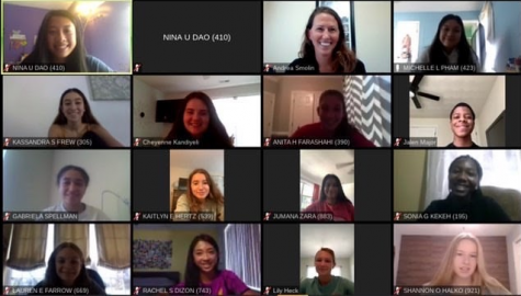 Operation Smile Club holds first meeting of the school year over zoom.