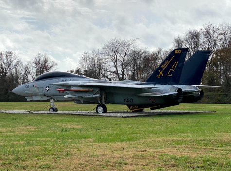 A US Navy F-18 plane stationed at the Oceana Naval Air Station on Nov. 30.