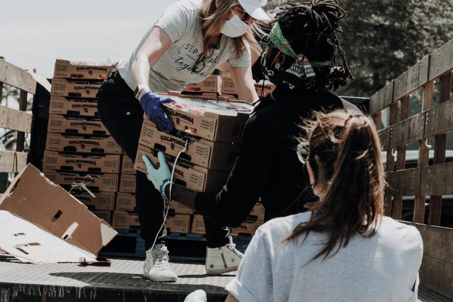 Volunteers+dedicate+time+to+local+food+drive.+