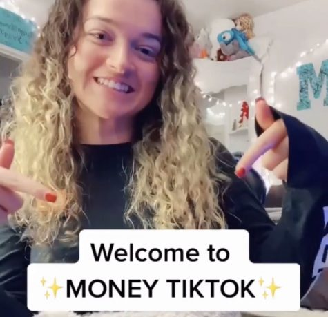 Former Ocean Lakes High School graduate Maycee Rachelle, sharing a tiktok on how to start your own business in her room to spread awareness to interested people.