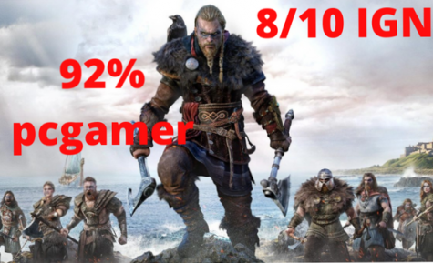 infographic shows the reviews of Assassin's Creed Valhalla.