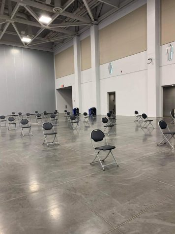 COVID-19 vaccination site located at the VB convention center taken on Jan. 21. prior to Anne Wilson Gregory