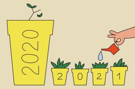 The New York Times shares an image, by artist, Igor Bastidas, that illustrates the need for smaller, more doable resolutions in 2021.