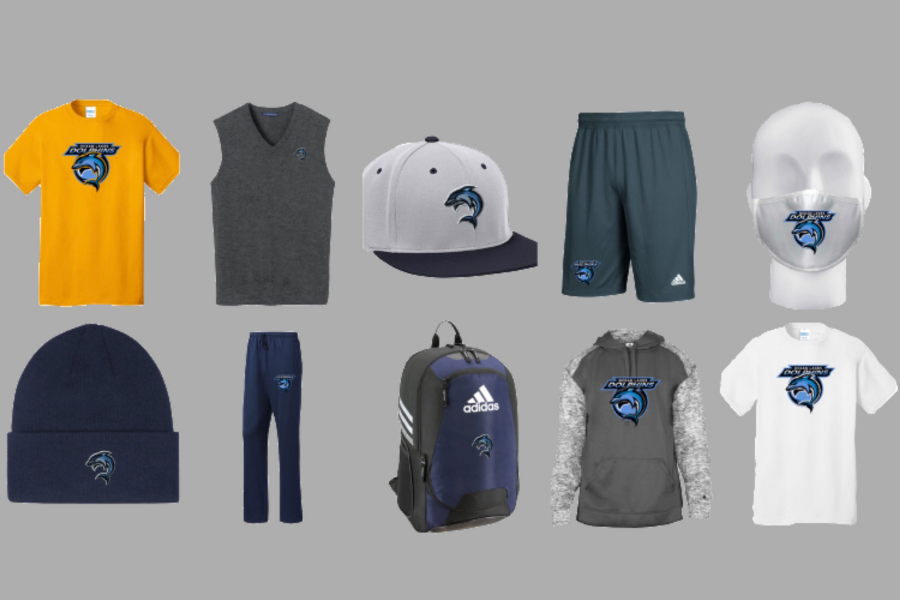 Various merchandise options for students, staff, parents, and alumni can order to showcase school spirit.