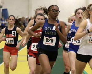 Aniya Mosely leads in the 2020 state meet, 1000.