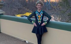 Freshman Alyssa Libasci prepares for her Irish dance performance at Busch Gardens' St. Patrick's Day Celebration on March 20.