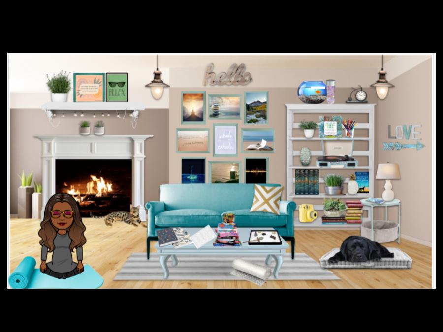 The student virtual calming room provides a variety of relaxation resources. Link: https://docs.google.com/presentation/d/1n0HIO35OzYYc6bdX3hoUx0eRjn5o0fllwDiLvcRJbBs/edit?usp=sharing