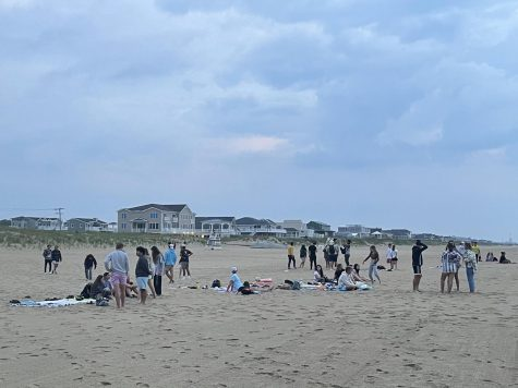 To start senior skip day, Class of 2021 arrived at Sandbridge Beach to watch the sunrise on May 28.
