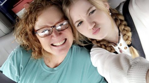 Sophomore Mackenzie and her mom share a selfie on a recent Snowshoe ski weekend.