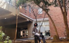 Shashank Sinha visits VCUs campus on April 3, 2021. Shashank decided to attend VCU next fall.