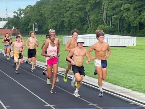 The cross country team meets at Kellam on Aug. 12 to condition for the imminent fall season.