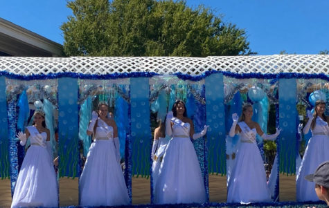 The Neptune Court Princesses on their personal float.